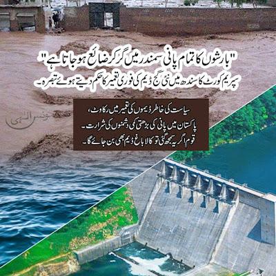 پاکستان میں پانی کی بڑھتی کمی دشمنوں کی شرارت۔