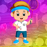 G4K Badminton Playing Boy Escape