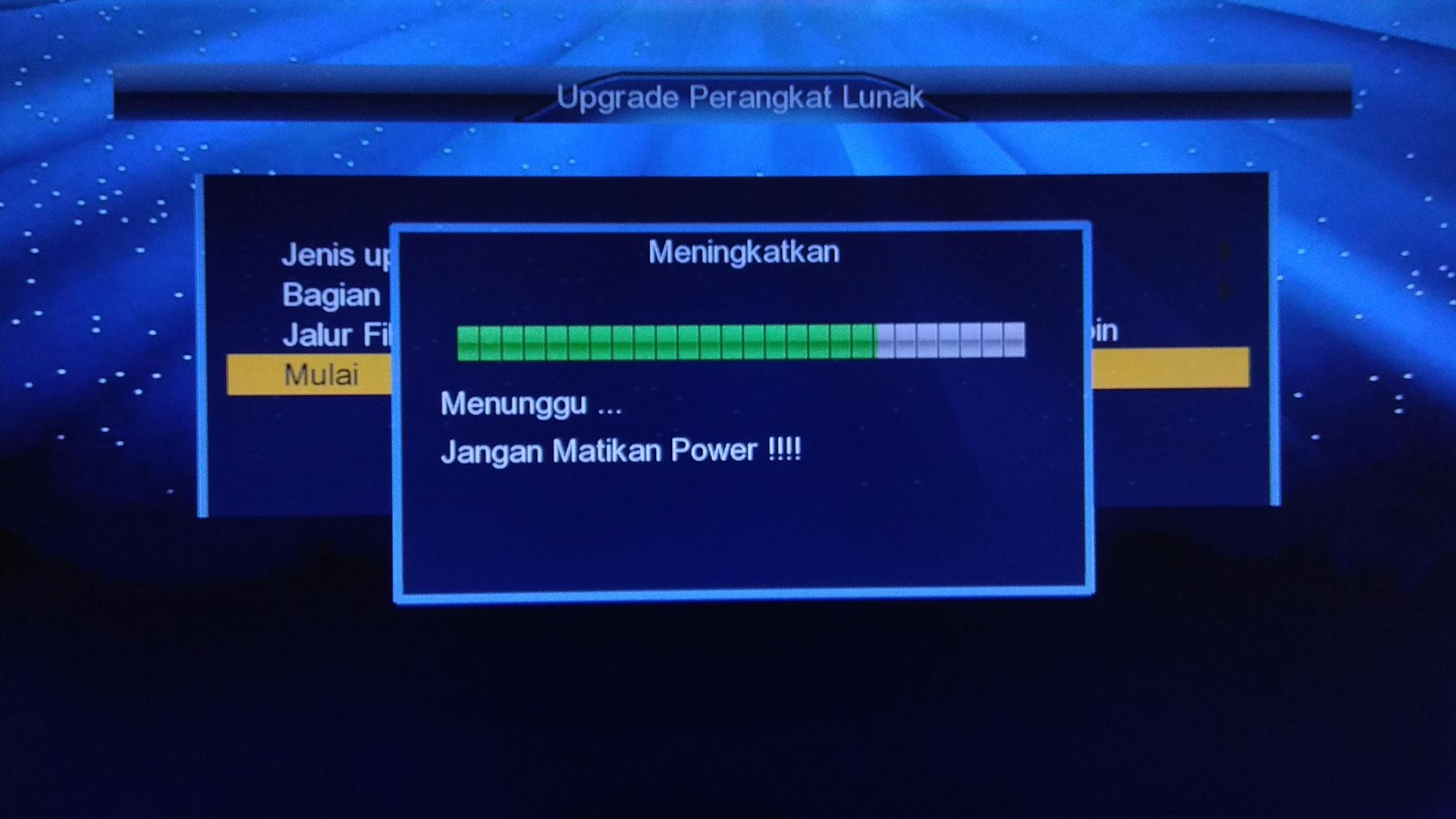 Cara Upgrade firmware Receiver Matrix Burger S8 HD