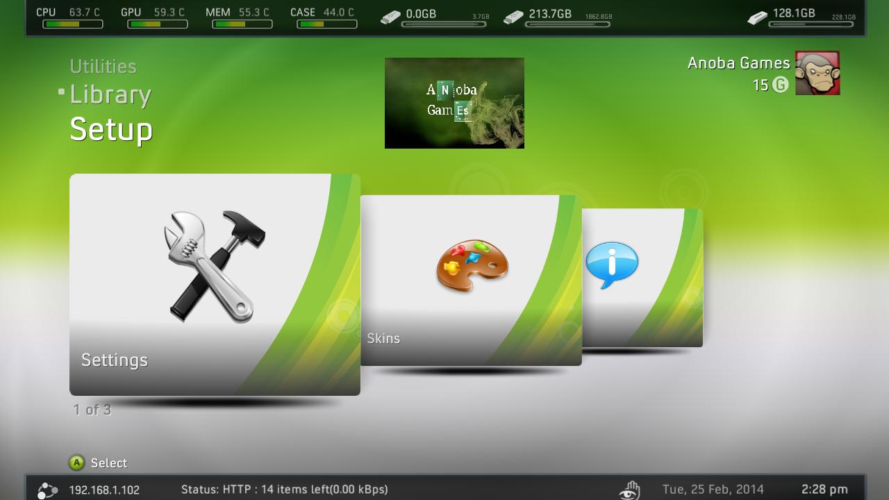 HD PARA XBOX 360 RGH / JTAG: Como configurar a Freestyle dash para