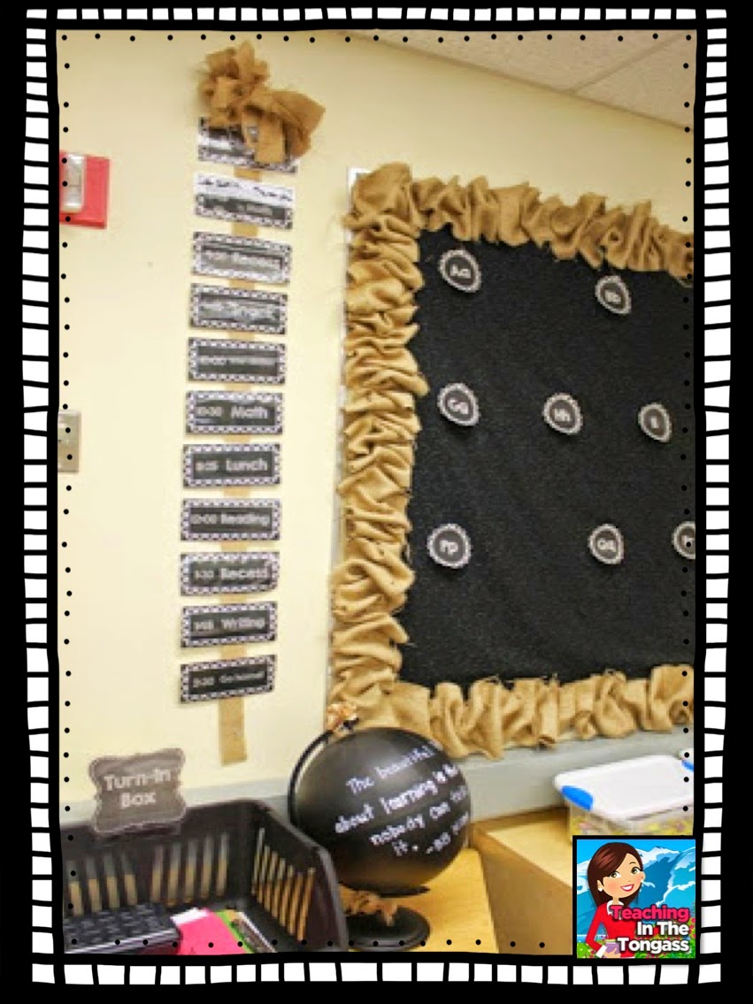Chalkboard And Burlap Classroom Again Teaching In The