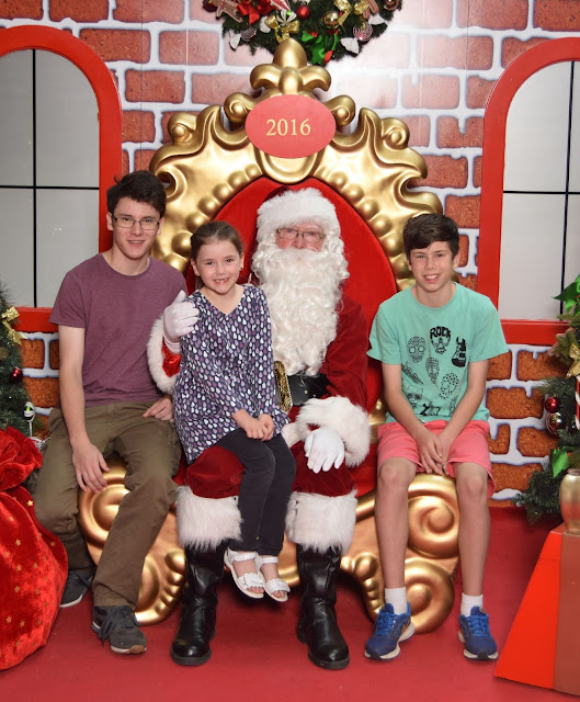 Santa Photo with Josh, Karla and Brad Yeo