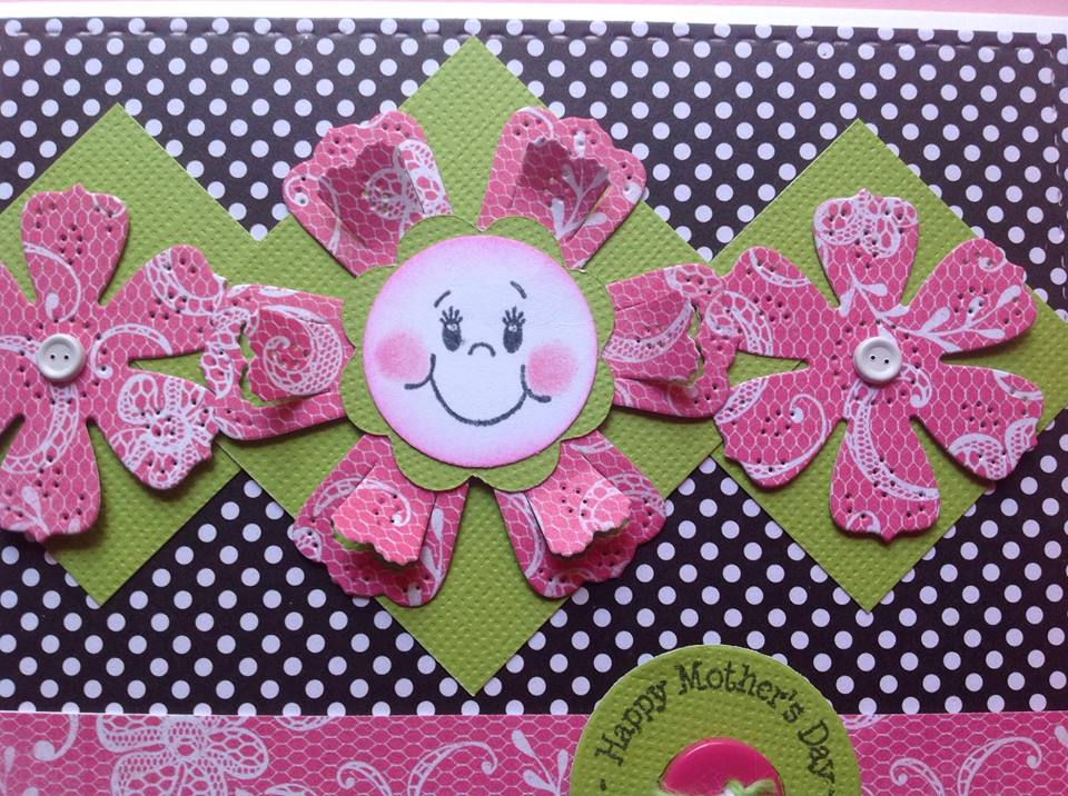 eva's scraps n' cards happy flower mother's day card
