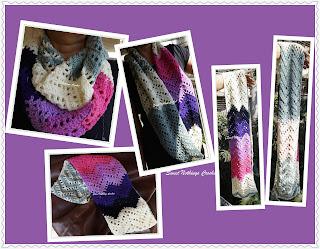 free crochet cowl chevron pattern