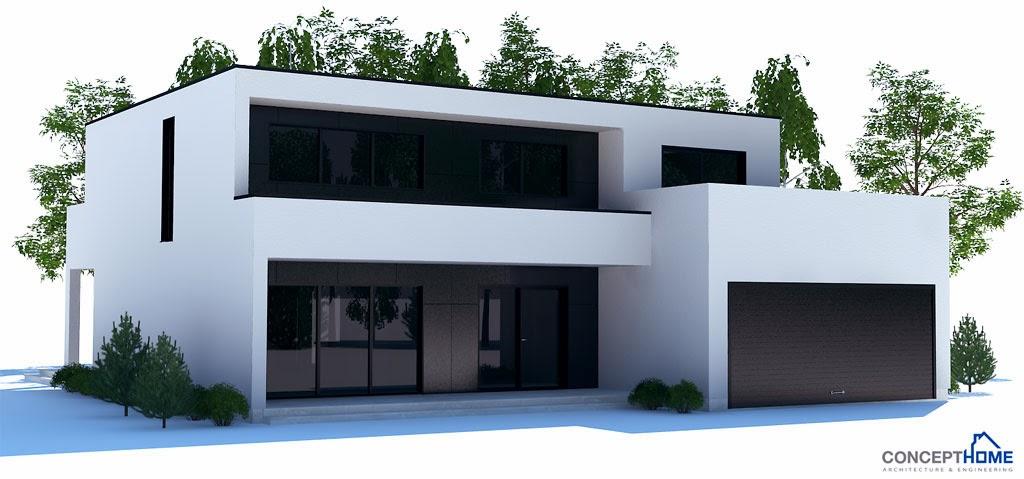 Plantas de casas modernas planta de casa moderna ch206 for Casa moderna 1 8