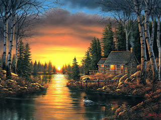 paisajes-con-cabañas-y-naturales-pinturas-oleo vistas-naturales-cabañas