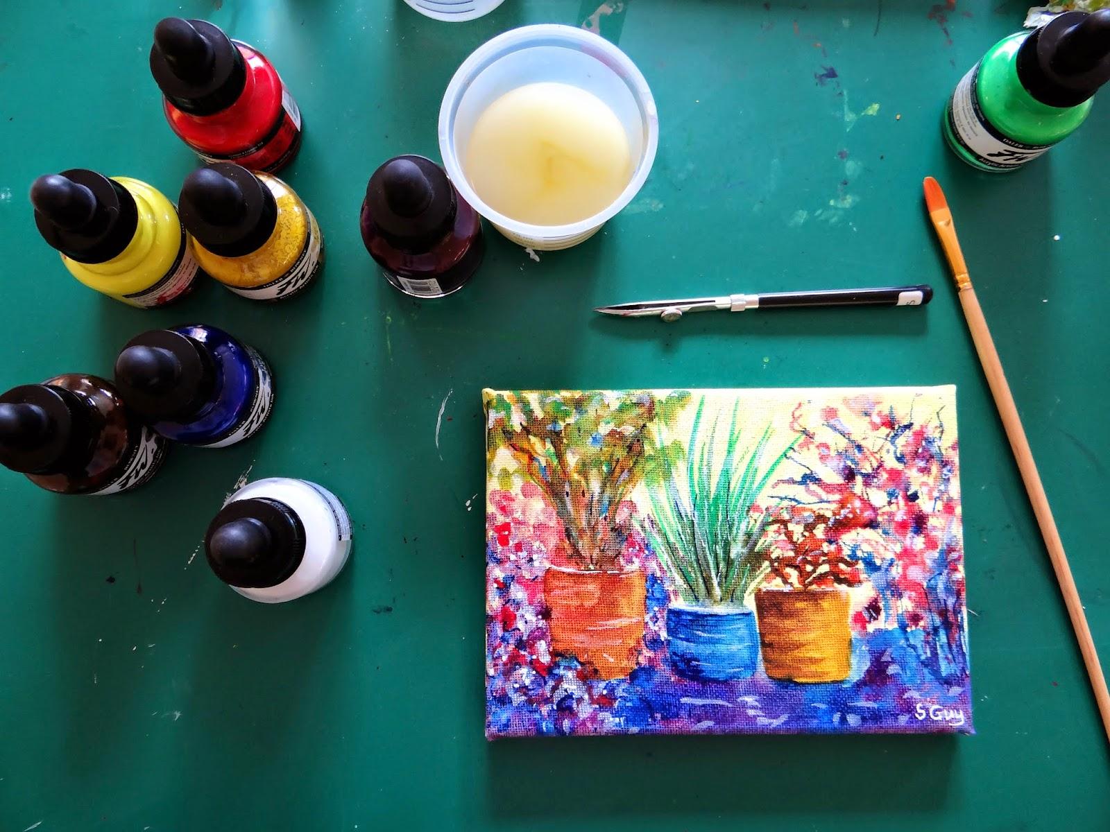 Stephanie Guy Fine Art: Do NOT varnish acrylic ink paintings!