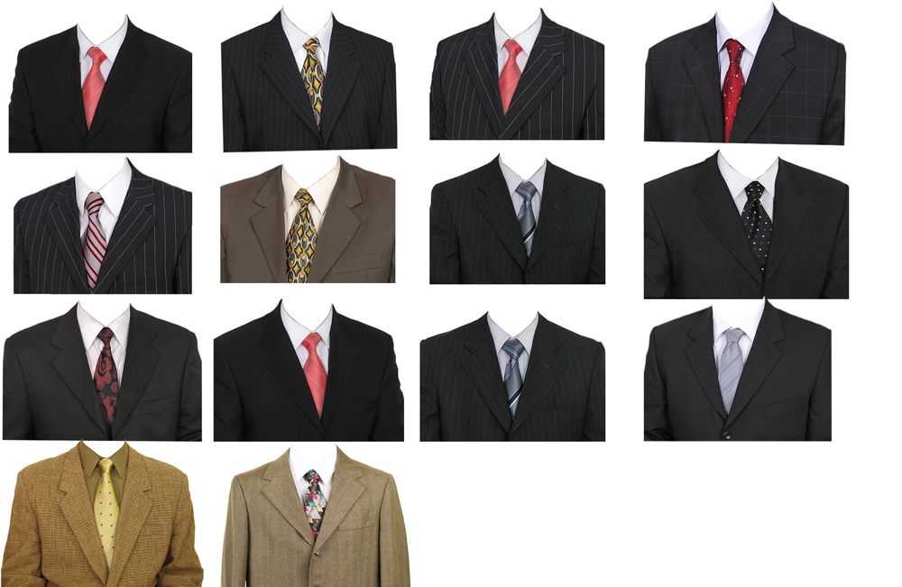 Sarath Arts: Male suits for Photoshop