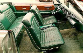 1966 Cadillac Eldorado Cabriolet Green Seat Front
