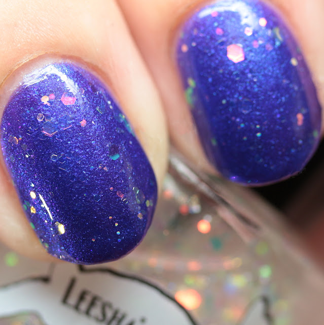 Leesha's Lacquer Opalescence over Good Morning, Glory