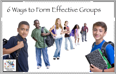 These are 6 ways I mix it up when forming classroom groups.