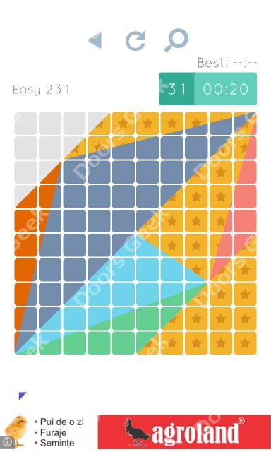 Cheats, Walkthrough for Blocks and Shapes Level 231