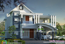 Contemporary Mix Modern Home Architecture - Kerala