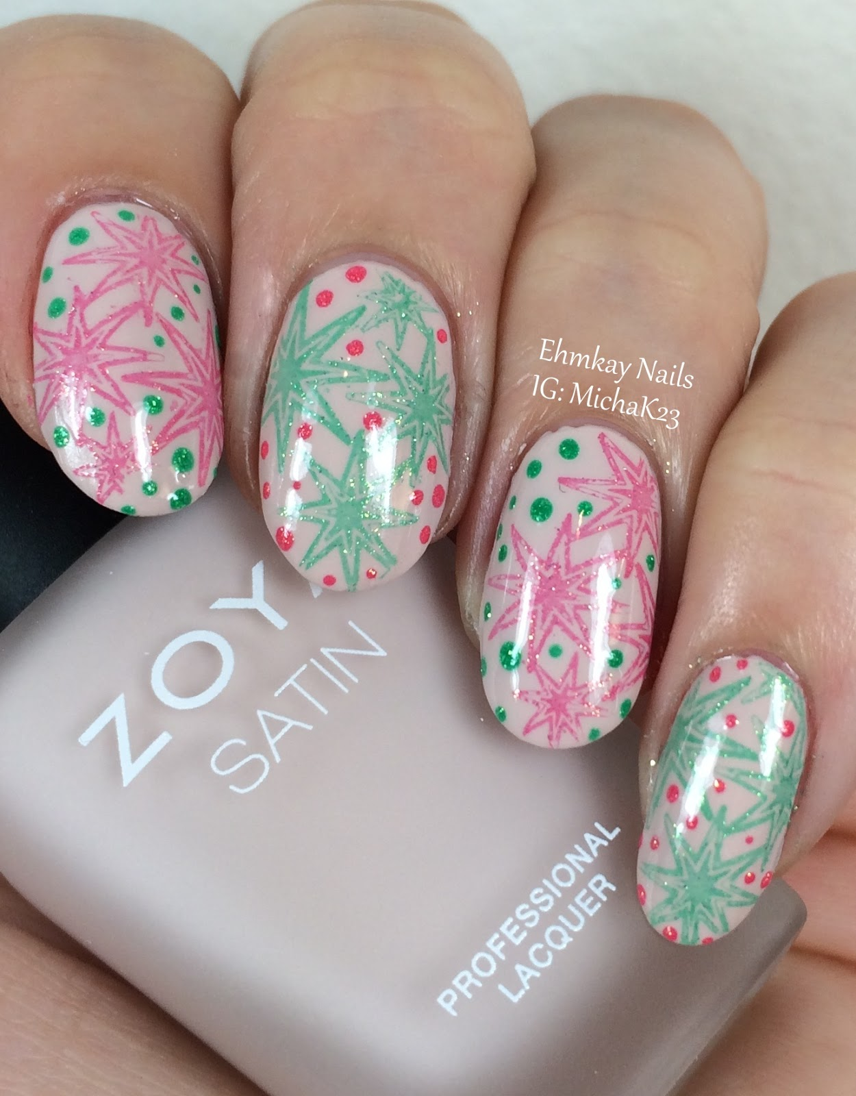 35 Nail Design Ideas For The Latest Autumn Winter Trends: Ehmkay Nails: 35th Anniversary Nails With Coral And Jade