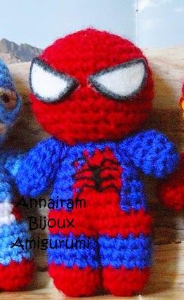 Spiderman Amigurumi Crochet Doll Pattern | Crochet amigurumi ... | 427x262