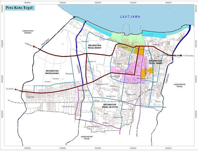 Peta Kota Tegal HD
