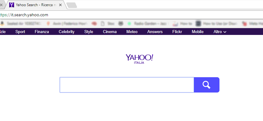 Pagina apertura Chrome Yahoo