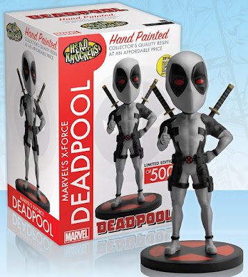 "San Diego Comic-Con 2016 Exclusive ""X-Force"" Deadpool Marvel Head Knocker Bobble Heads by NECA"