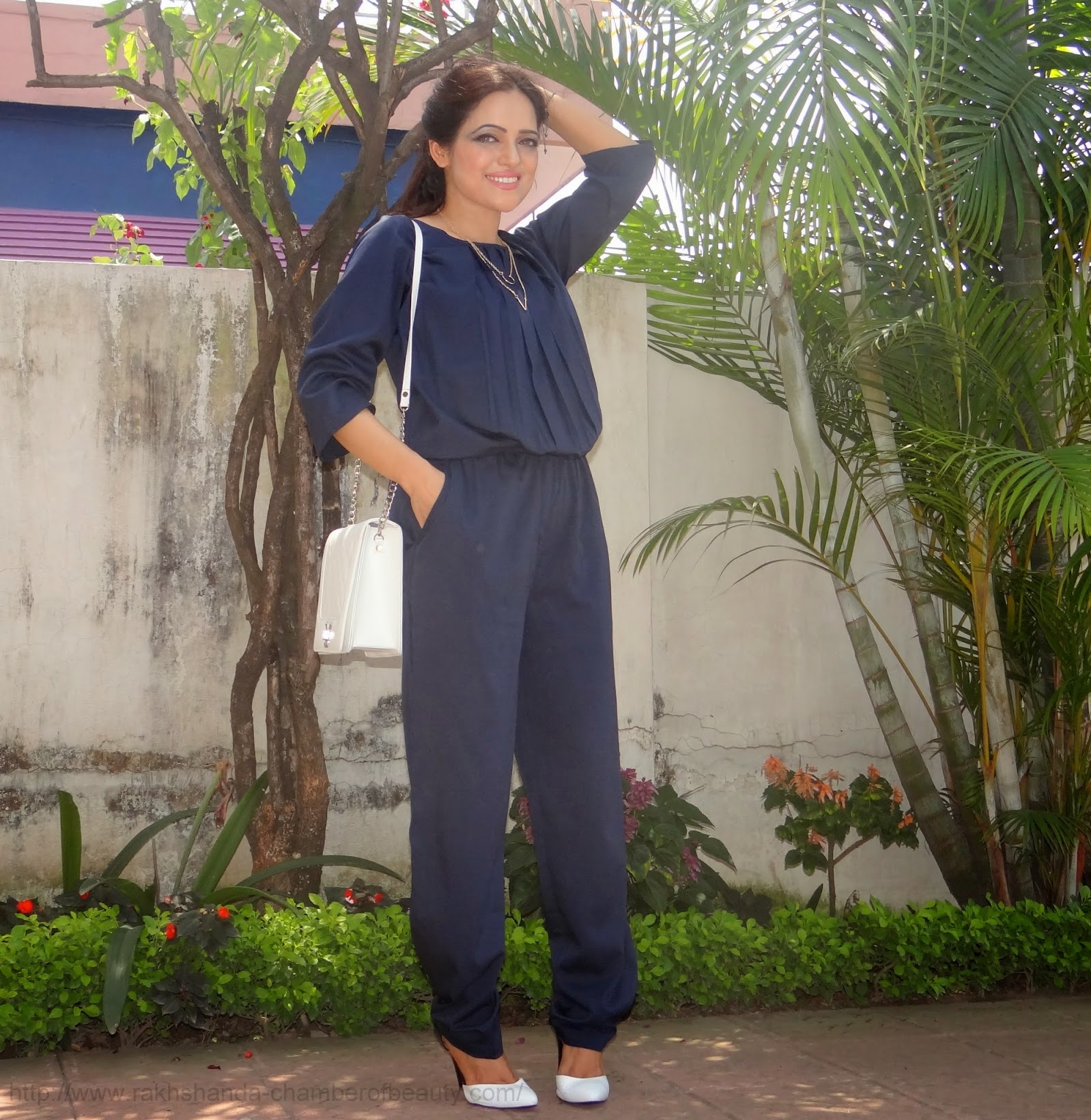 Navy Jumpsuit from Limeroad.com -OOTD