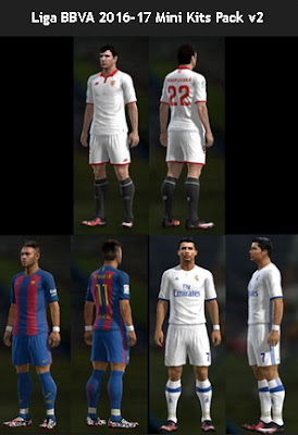 PES 2013 Liga BBVA 2016-17 Mini Kits Pack v2 by PES Gear