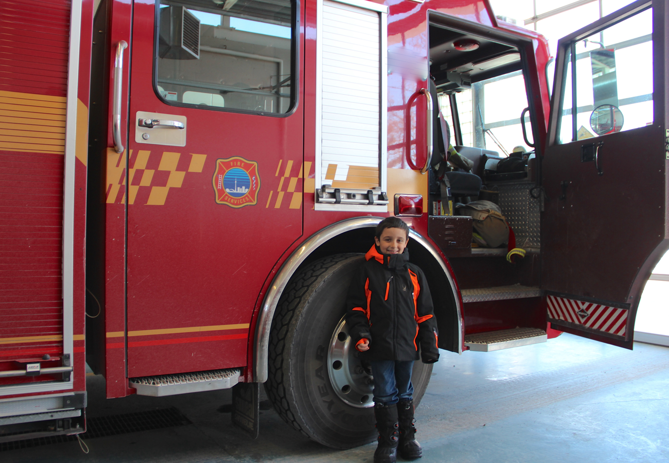 Community Helpers: A Visit With a Local Firefighter - Fire Truck