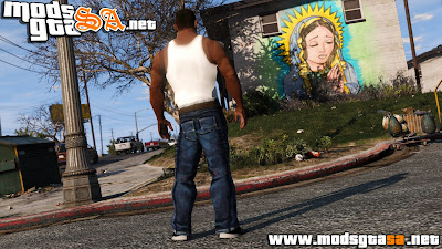 Skin do Carl Johnson para GTA V PC