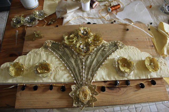 make your own kokoshnik russian wedding headpiece