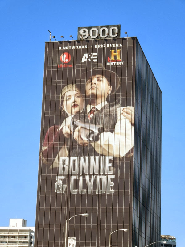 Giant Bonnie & Clyde 2013 remake billboard