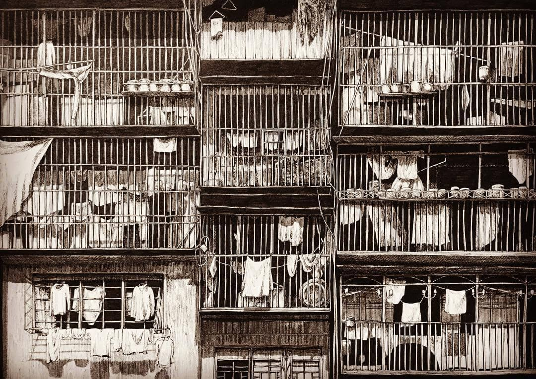05-Balconies-and-Bars-ibsuki-Urban-Architectural-Pen-Drawings-www-designstack-co