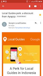 Google Local Guides Perk