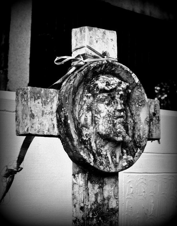 A cross in a cemetery