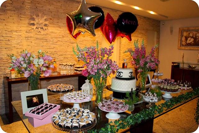 Decoração da Mesa de Aniversário Chanel
