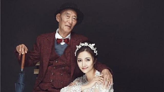 Lakukan Foto Pernikahan dengan Kakeknya, Alasan Gadis Ini Menyentuh