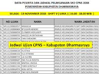 Jadwal dan Nama Peserta UJIAN CAT CPNS 2018 - Kabupaten Dharmasraya, Download Disini !!!