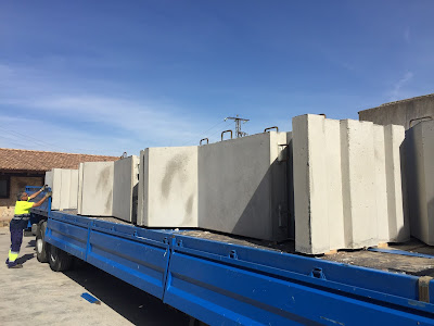imagen colocación separadores para transporte en camión