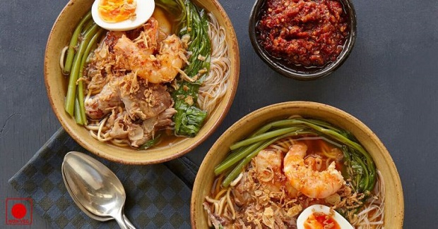 Classic Shrimp Laksa With Rice Noodles Recipe