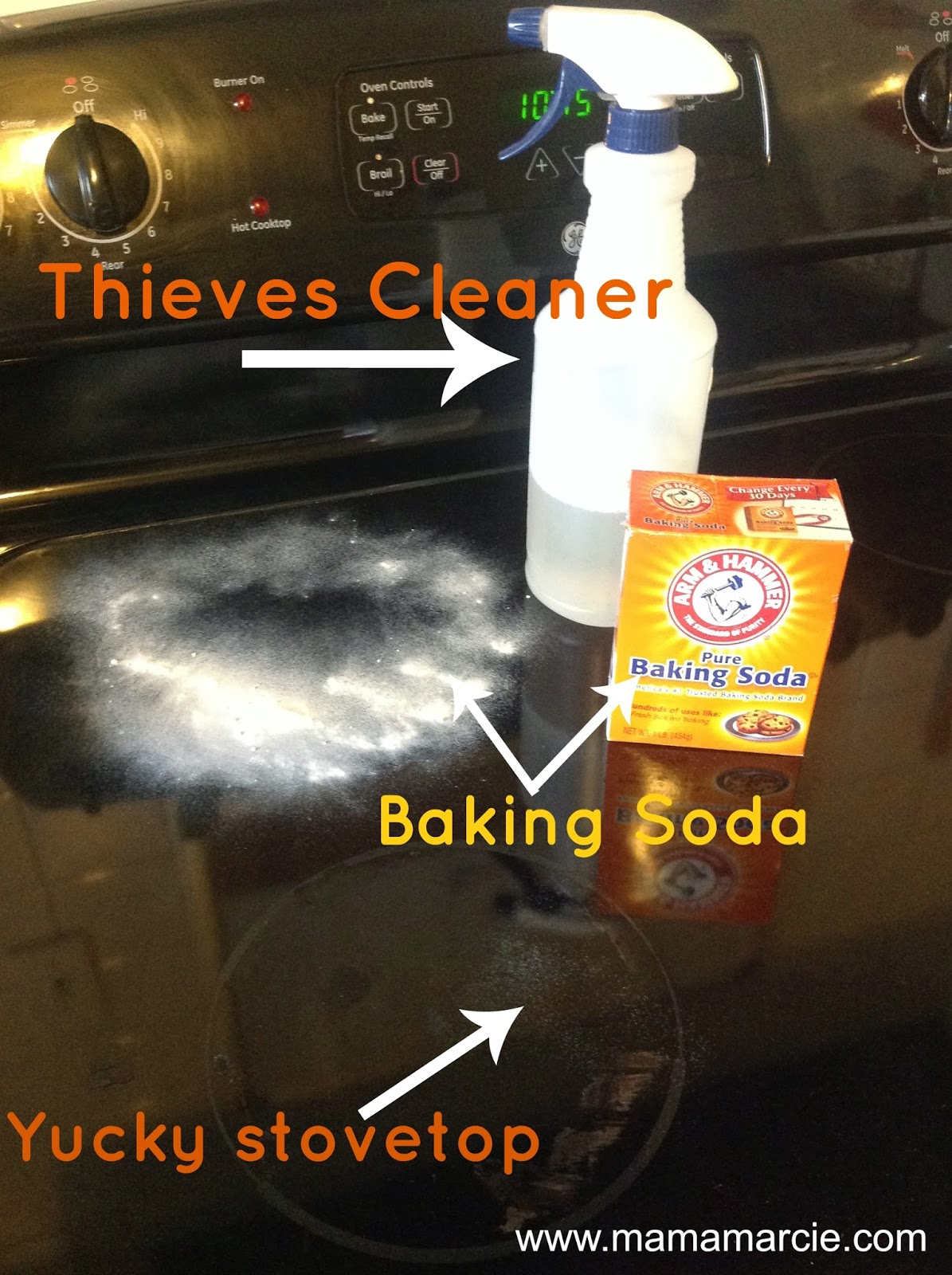 Mama Marcie Sparkly Clean Kitchen With Thieves Cleaner