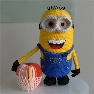 patron amigurumi Minion all about ami