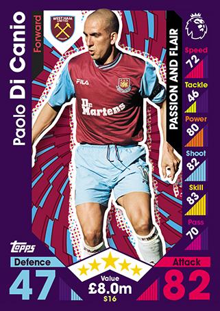 357 2017 EPL Match Attax Base Card Dimitri PAYET Star Player West Ham 2016
