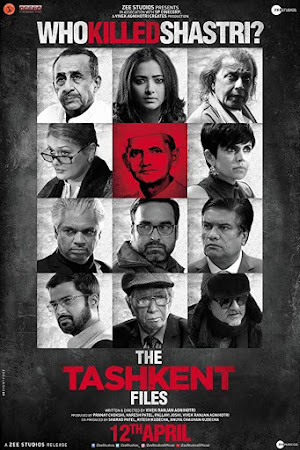 Poster Of Bollywood Movie The Tashkent Files 2019 300MB Pdvd Full Hindi Movie