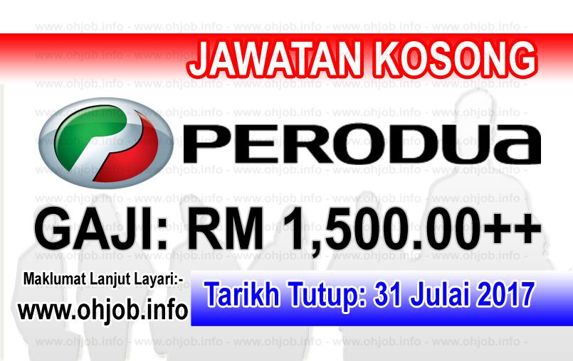 Jawatan Kerja Kosong Perodua logo www.ohjob.info julai 2017