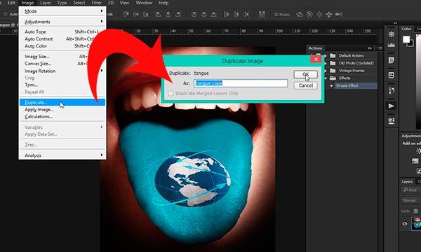 Duplicate image step