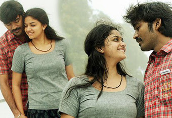 Dhanush and Keerthy Suresh In FILM Thodari