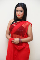 Aasma Syed in Red Saree Sleeveless Black Choli Spicy Pics ~  Exclusive Celebrities Galleries 092.jpg