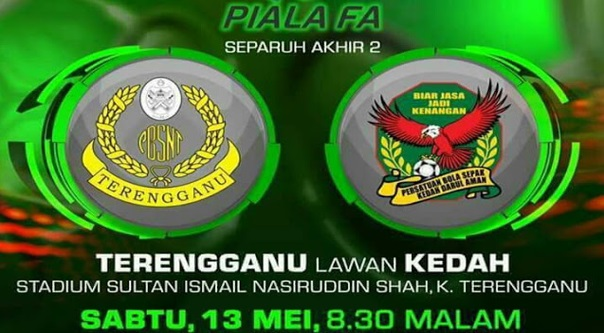 Live Streaming Terengganu vs Kedah 13.5.2017 Piala FA