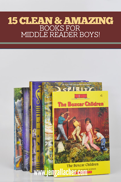 15 Clean and Amazing Book Series for Middle Reader Boys from www.jengallacher.com. #booklist #middlereader #booksforboys