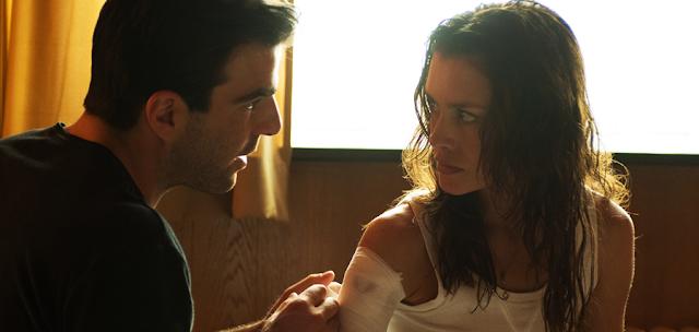 Zachary Quinto şi Hannah Ware în filmul Hitman: Agent 47