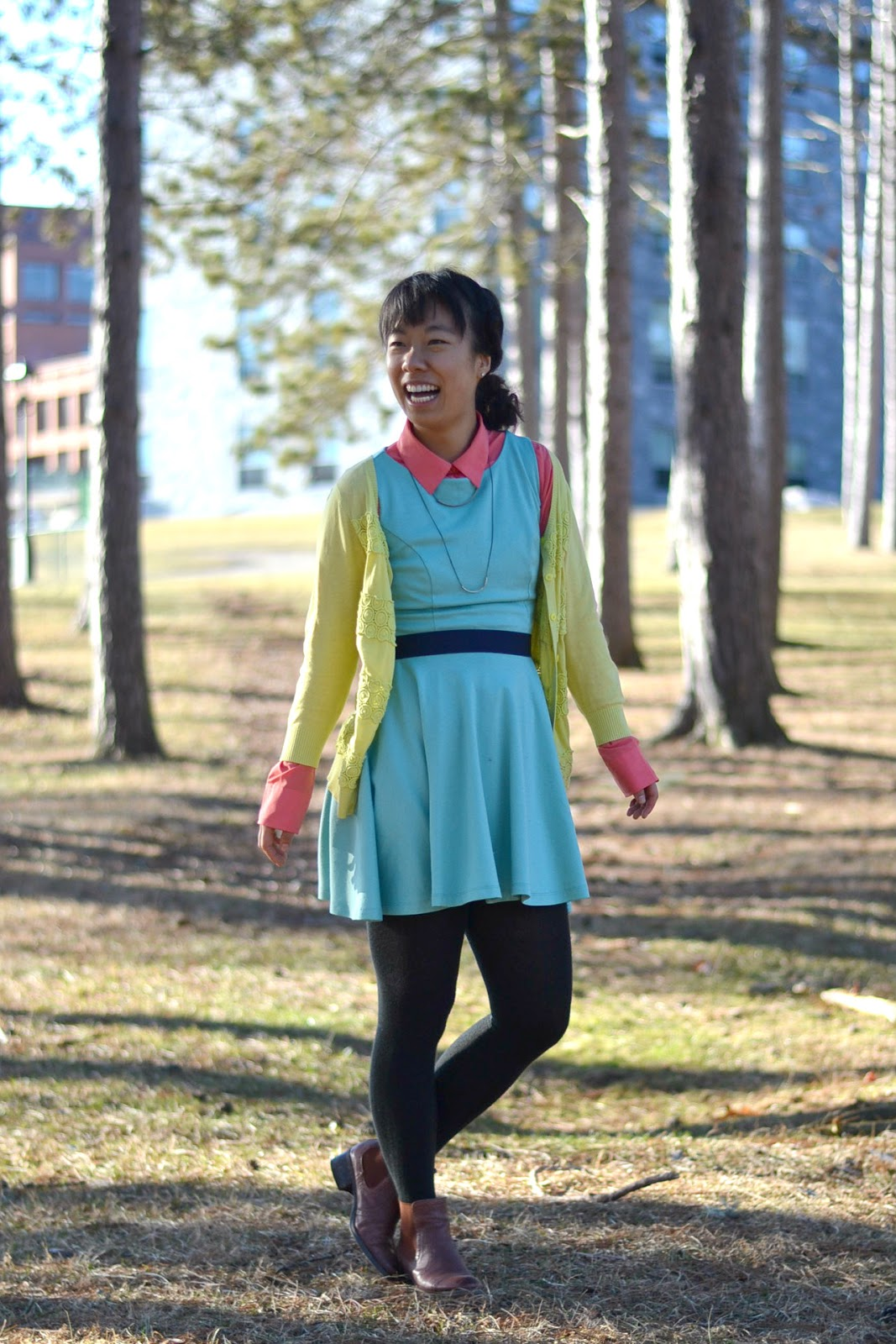 colorful outfit college fashion