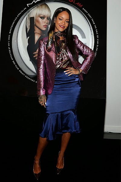 Rihanna at the launch of Mac Viva Glam