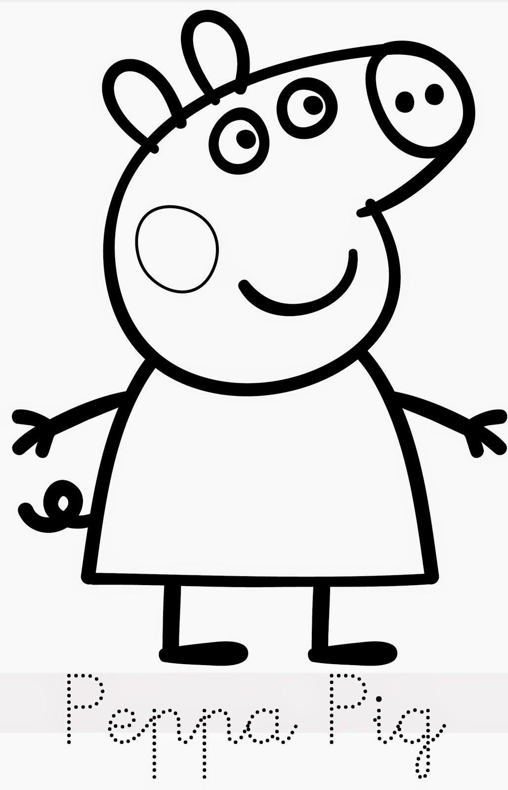 desenhos de peppa pig para colorir pintar imprimir ou preparar